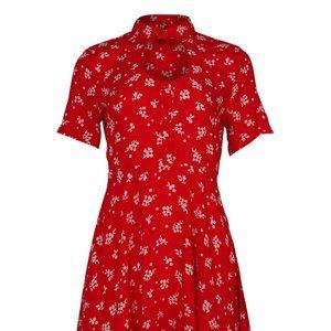 NWOT Red Floral Dress